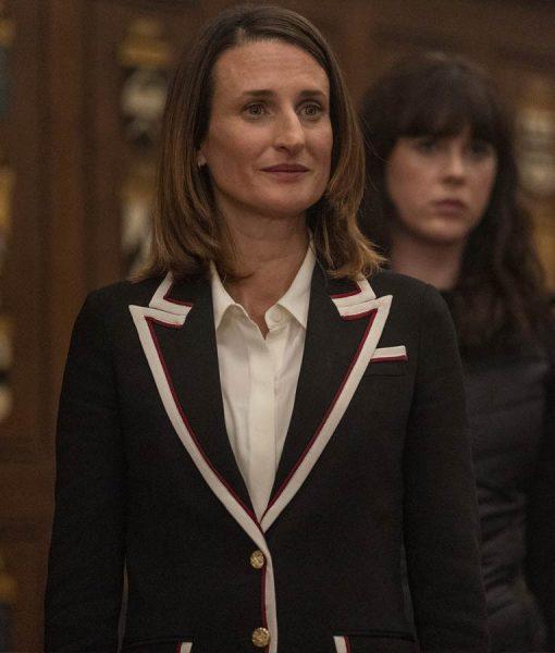 Killing Eve Hélène Black & White Contrast Trim Blazer