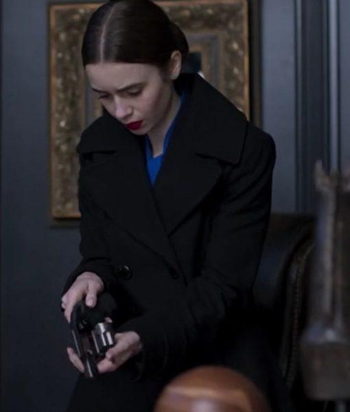 Lily Collins Inheritance Coat