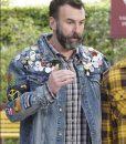 Matt Braunger Black-ish Denim Jacket With Patches