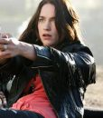 Melanie Scrofano Wynonna Earp Black Leather Jacket