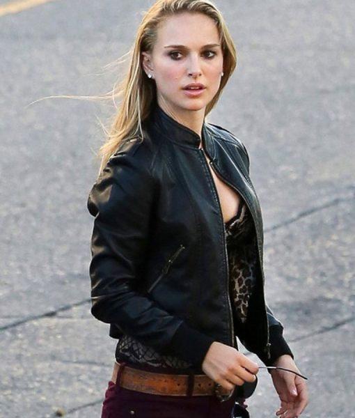 Natalie Portman Song To Song Rhonda Bomber Jacket