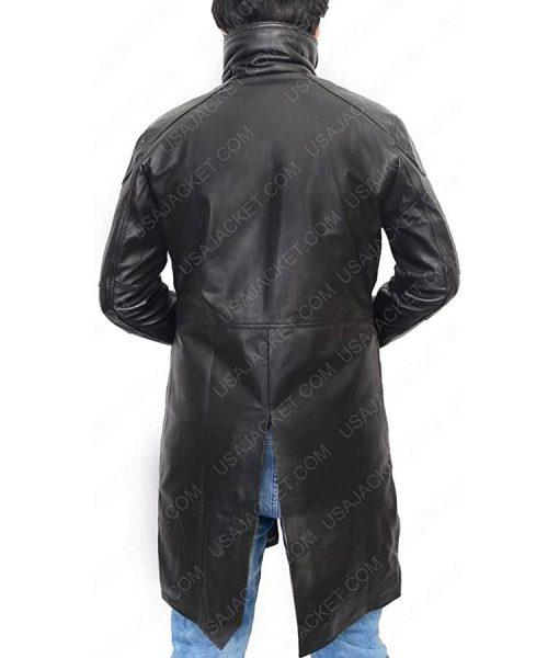 Officer K Blade Runner 2049 Black Shearling Leather Jacket