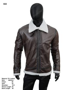 Pu Leather Clearance Sale Men's B3 Shearling Jacket medium Size