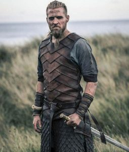 Tobias Santelmann The Last Kingdom Ragnar Leather Vest