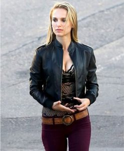 Natalie Portman Black Leather Song To Song Jacket