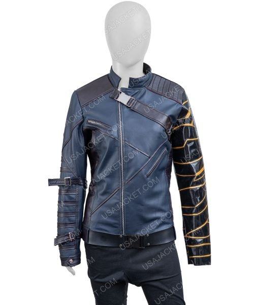 Sebastian Stan The Falcon and the Winter Soldier Bucky Barnes Leather Jacket