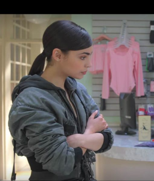 Sofia Carson Feel The Beat April Cropped Jacket With Hood
