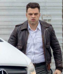 Sebastian Stan The Devil All the Time Bomber Jacket