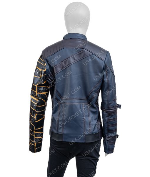 The Falcon and the Winter Soldier Battle Blue Uniform Bucky Barnes Jacket