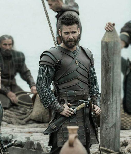 The Last Kingdom Season 04 Mark Rowley Leather Finan Vest