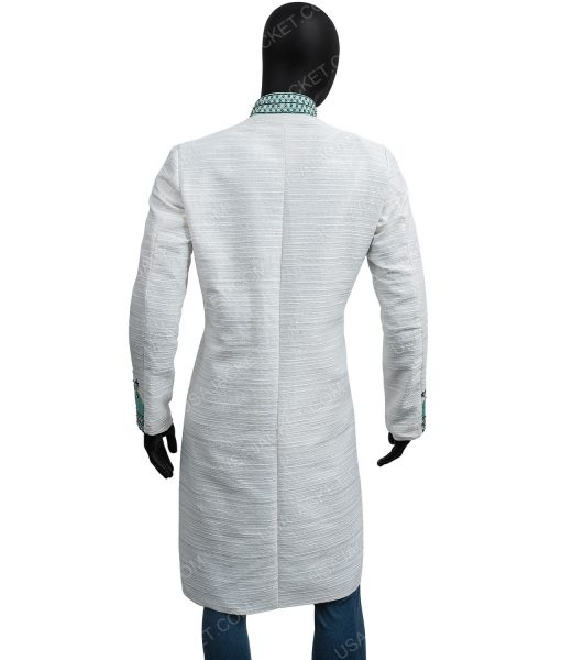 The Umbrella Academy S02 Robert Sheehan Blue & Silver Embroidery Coat