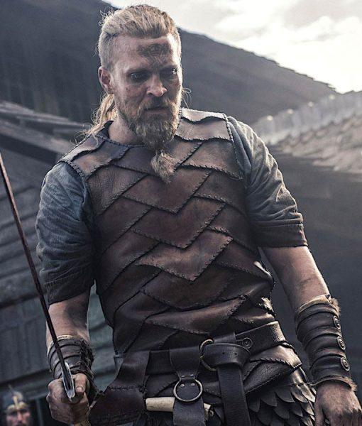 The Last Kingdom Brown Leather Ragnar Vest