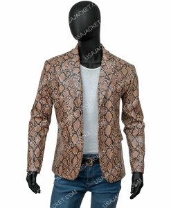 Wild at Heart Snakeskin Leather Jacket