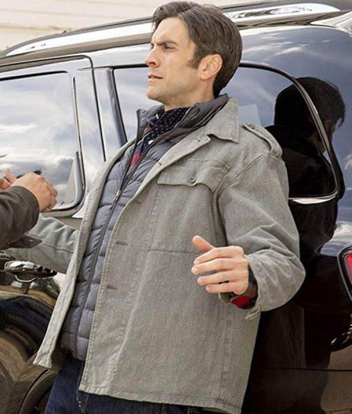 Yellowstone Jamie Dutton Grey Jacket