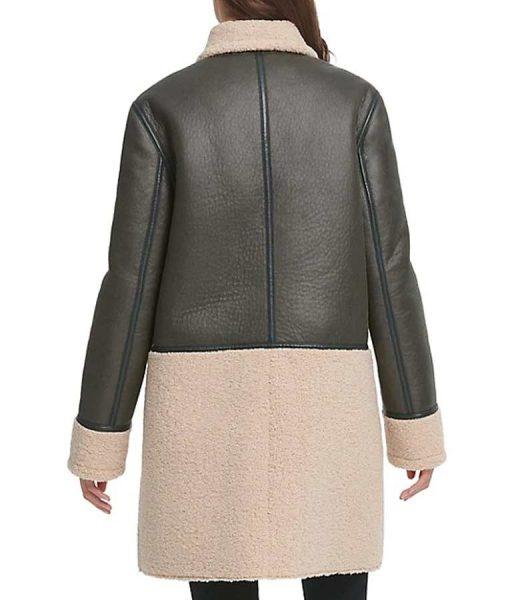 Zari Tomaz Legends of Tomorrow Season 05 Faux Leather and Shearling Coat