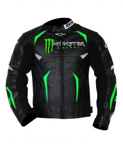 Alpinestars Hellhound Monster Energy Black Leather Jacket