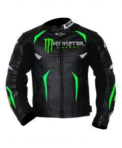 Alpinestars Hellhound Monster Energy Black Leather Jacket