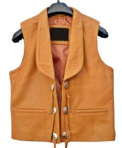 Bonanza Lorne Greene Leather Vest