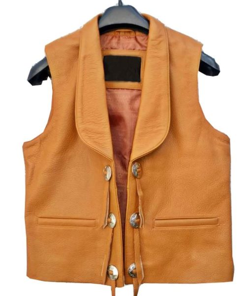 Ben Cartwright Bonanza Lorne Greene Leather Vest
