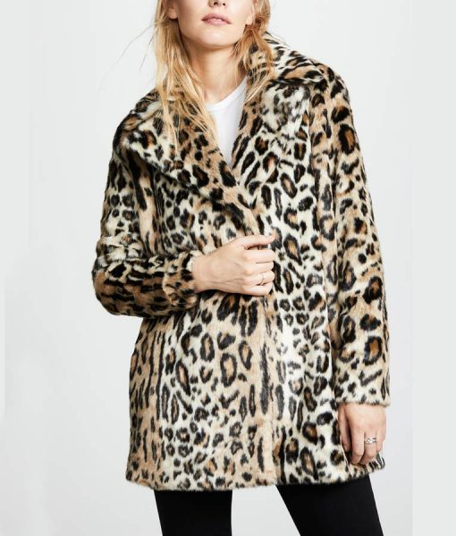 Yellowstone S02 Kelly Reilly Cheetah Print Coat