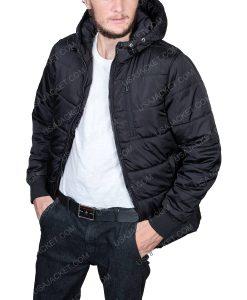 Men's Black Puffer Hooded Jacket