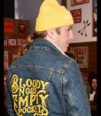 Bloody Nose Empty Pockets Denim Black Jacket With Patch