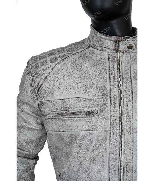 Men's Cafe Racer Leather 2XL Jacket