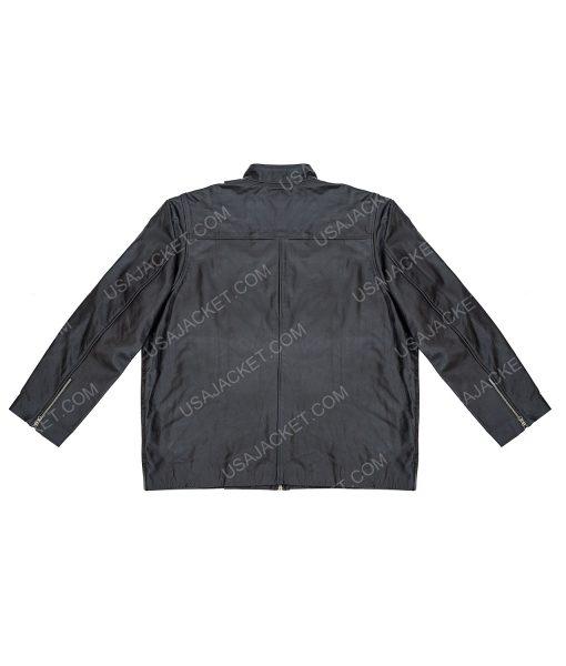 Clearance Sale Men's Black Leather Jacket (3XL) Size