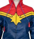 Clearance Sale Carol Danvers Leather Hoodie (M) Size