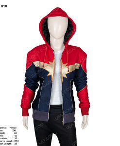 Clearance Sale Carol Danvers Red and Blue 2XL Hoodie