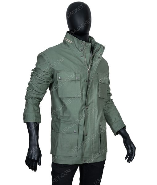 Clearance Sale Men's Cotton Olive Green Jacket (XL) Size