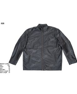 Clearance Sale Black Leather Jacket (3XL) Size