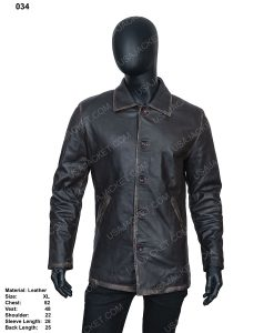 Clearance Sale Men's Black Leather (XL) Size Jacket