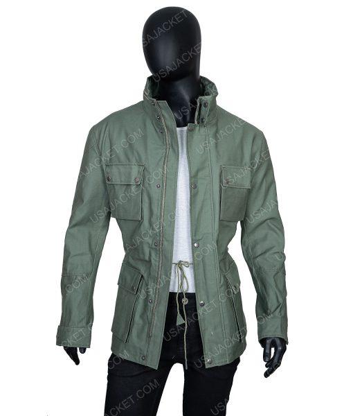 Clearance Sale Men's Cotton Green Jacket