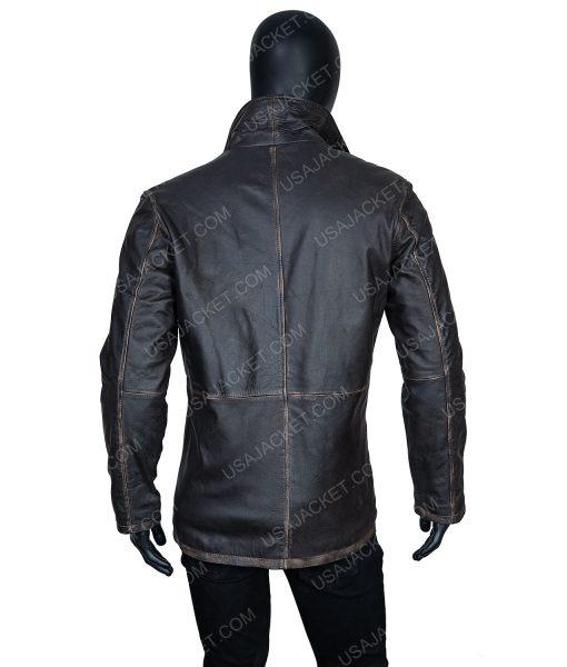 Clearance Sale Men's Black Leather Jacket