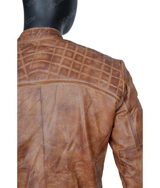 Clearance Sale Men's Cafe Racer Leather Jacket