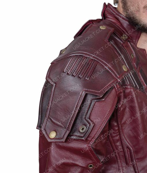 Clearance Sale Star-lord PU Leather Maroon Jacket