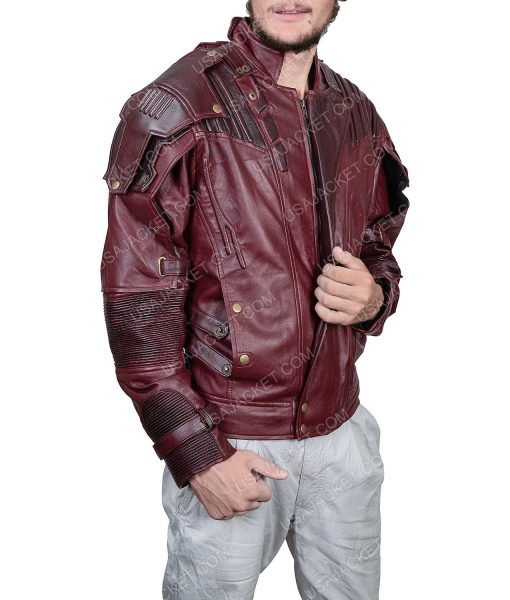 Clearance Sale Star-lord PU Leather Maroon Jacket Medium Size
