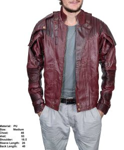 Clearance Sale Star-lord PU Leather Jacket