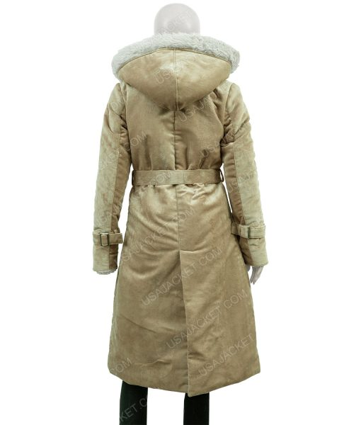 Clearance Sale Women's Fawn Suede Cotton Long Coat