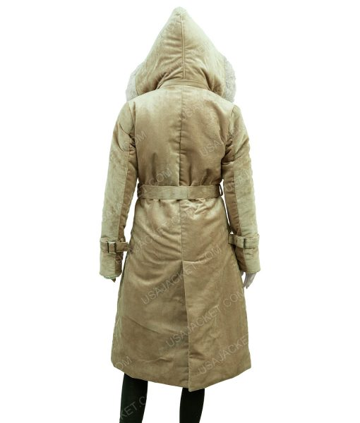 Clearance Sale Women's Fawn Suede Cotton Long Hooded Coat