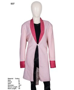 Clearance Sale Women's Pink Cotton Trench Coat (XL) Size