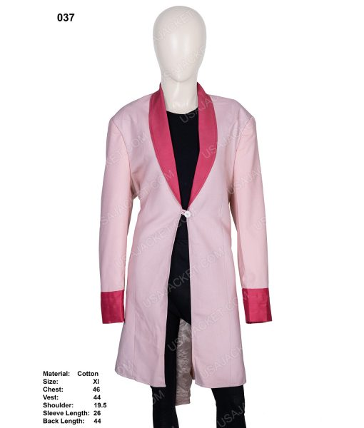 Clearance Sale Women's Pink Cotton Trench Coat In (XL) Size