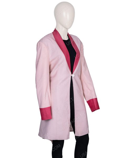 Clearance Sale Women's Pink Cotton Coat In (XL) Size