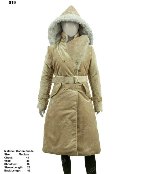 Clearance Sale Womens Suede Cotton Coat