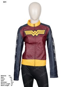 Clearance Sale Wonder Woman PU Leather Jacket