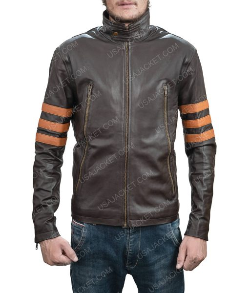Clearance Sale Retro Style Brown Leather Jacket