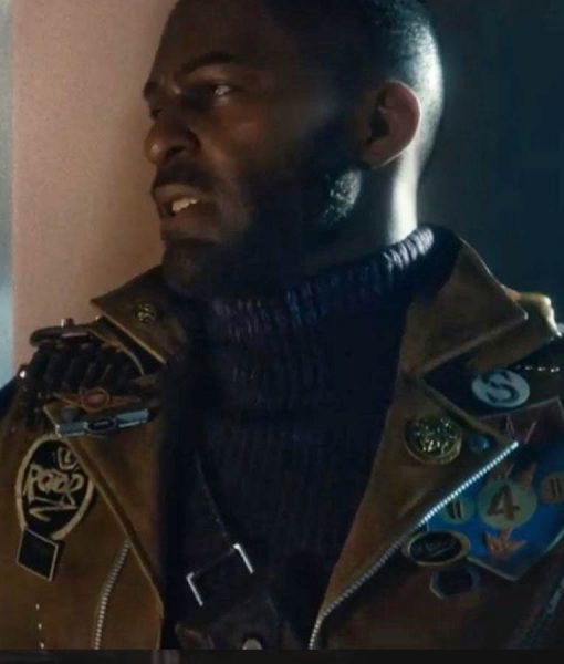 Deathloop Colt Brown Leather Jacket With Patches