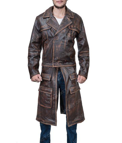 Defiance Distressed Brown Leather Joshua Nolan Coat