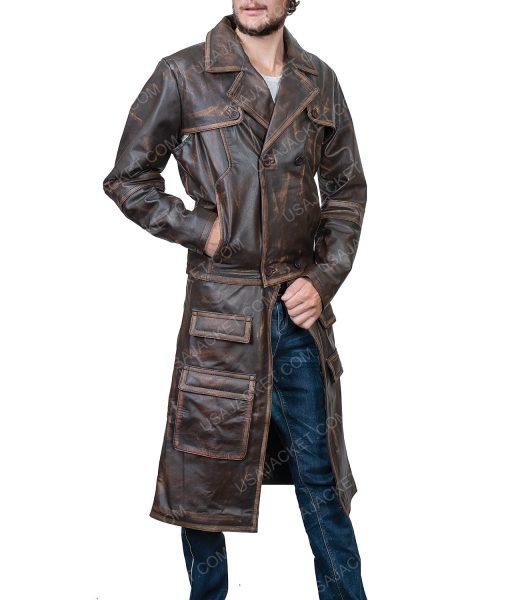 Defiance Distressed Brown Leather Joshua Nolan Jacket